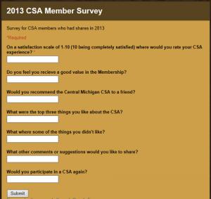 CSA Survey
