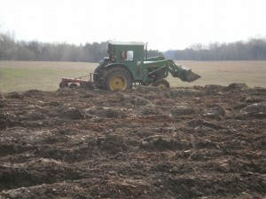 Plowing at The CSA Farm